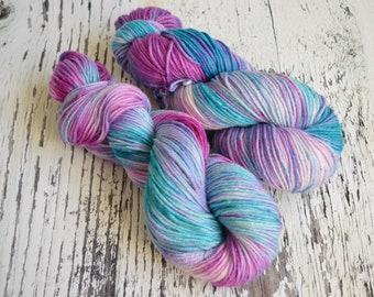Hand Dyed Yarn, DK yarn, hand dyed DK wool, hand dyed merino, silk yarn, stellina, merino wool, Centaur