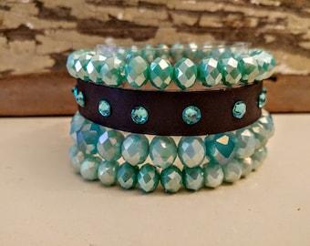 4 stack beaded bracelet