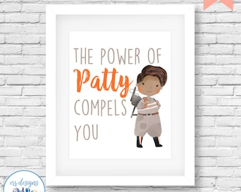 Ghostbusters Patty Printable, 8x10 Ghostbusters Sign, Ghostbusters Digital Printable, Girl Ghostbusters