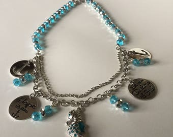 Hope Is An Anchor Necklace/Beaded Charm Seaside Necklace