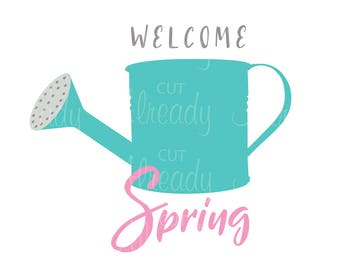 Spring Watering Can - SVG - cut file - for Cricut and Silhouette