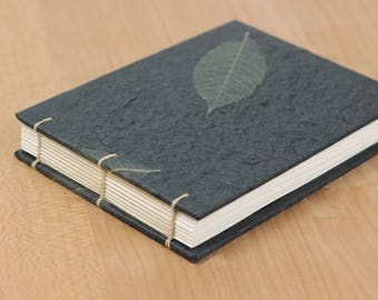 Landscape Sketchbook, Wide Notebook, Small Guestbook, Watercolor Sketchbook, Dot Grid Notebook, Graph Paper, Lay Flat Notebook, Handmade, A6