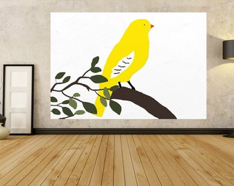 Big Yellow Bird Painting Landscape Canvas animal Painting Wall Art Painting 24 36 40 48 54 64 72 60 80 Giant Contemporary Modern Office Art