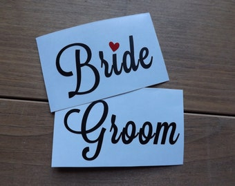 Bride and Groom decal, yeti cup decal,mug decal,car decal,window decal,laptop,phone decal