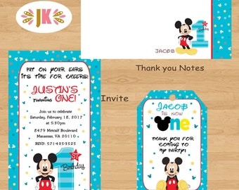 Mickey mouse 1st birthday invitations gangcraft mickey mouse st birthday invitation etsy birthday invitations filmwisefo