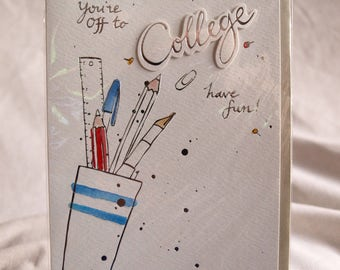 You're Off to College have fun!  Card