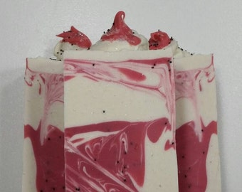 Strawberry Shortcake Soap, soap, soap bars, bath, beauty, Handmade, Homemade, Natural, Lather Up Naturally