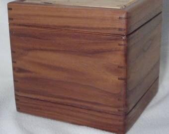 Cremation Urn----Walnut and Pecan