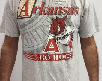 Vintage Arkansas Razorback Omahogs/ Diamond Hogs T shirt