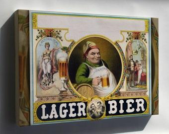 Canvas 24x36; Lager Bier C1870S