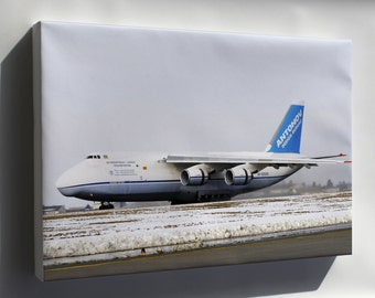 Canvas 24x36; Antonov An-124 Taxis In At Spangdahlem Air Base