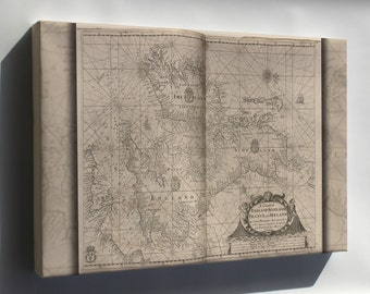 Canvas 24x36; Map Of England, Scotland, France, And Ireland 1700