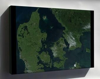 Canvas 24x36; Denmark Satellite Map Satellite Image Of Denmark In July 2001