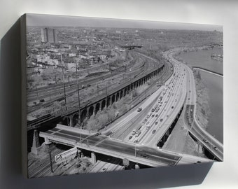 Canvas 24x36; Haer Pa,51 Phila,694 18 West Philadelphia Elevated North