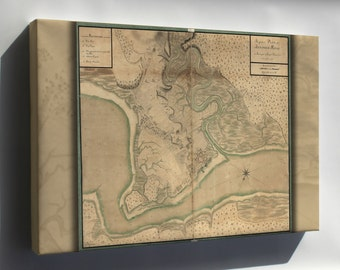 Canvas 24x36; Map Of Annapolis Royal Nova Scotia 1753