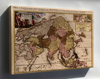 Canvas 24x36; Map Of Asia 1680 In French
