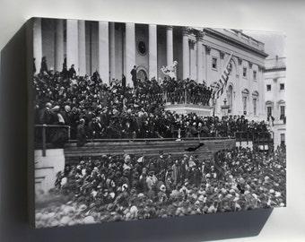 Canvas 24x36; Abraham Lincoln Second Inaugural Address