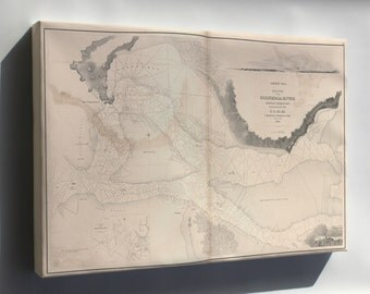 Canvas 16x24; Map Mouth Of Columbia River Oregon Territory 1841