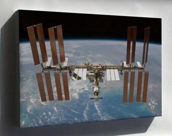Canvas 16x24; International Space Station P2