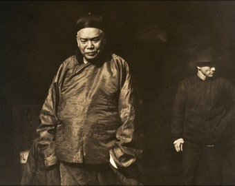 16x24 Poster; Arnold Genthe - Merchant And Body Guard, Old Chinatown, San Francisco -
