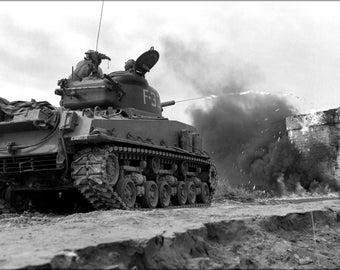 16x24 Poster; M4A3R3 Sherman Flame Tank