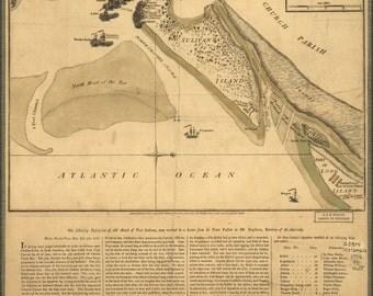 16x24 Poster; Map Fort Sulivan Charleston South Carolina P2