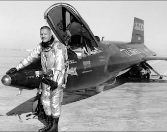 16x24 Poster; Dryden Pilot Neil Armstrong Next To The X-15 Ship 1960