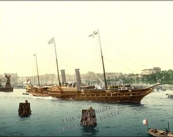 16x24 Poster; Hmy Osborne Photochrom Print, Circa 1895 (Get Rid Of Fingerprint On Side Of Ship)