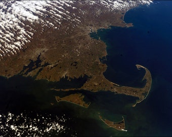 16x24 Poster; Cape Cod Massachusetts From The International Space Station