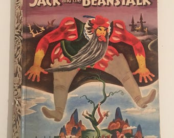 """First """"A"""" Edition Jack and the Beanstalk Little Golden Book 179"""
