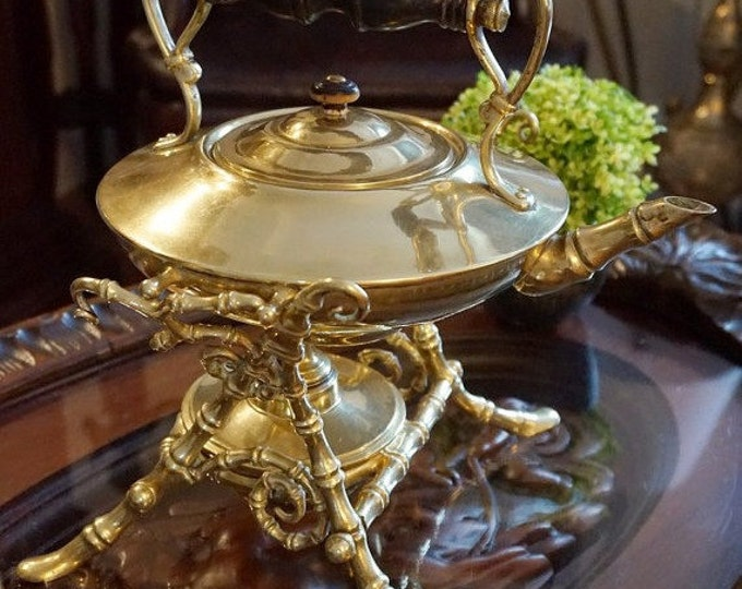 Brass Teapot with Tilting Stand