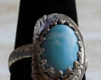 Larimar  Ring in sterling Silver Size 9