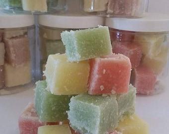 Handmade Sugar Scrub Soap Cubes, Wedding favors,  Shower favors, bulk pricing, wholesale, Exfoliating, Body scrub,