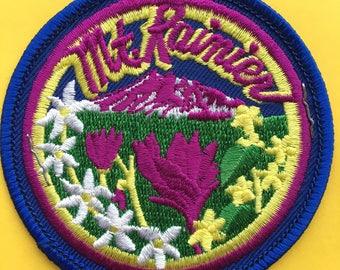 Mount Rainier National Park Vintage Souvenir Travel Patch from IAAC