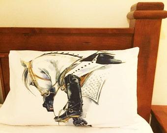 "Equestrian & Horse  theme Premium Percale Pillow Case ""Dressage"""
