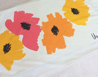 Vintage Vera Poppies Burlington No Iron Percale Standard Pillowcase