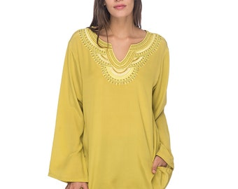 SCT053 - Hand embroidered silk tunic