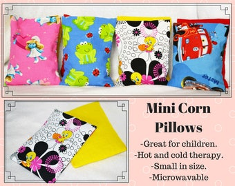 Mini Corn Pillow Set - Corn Pillow - Kids - Hot/Cold Pack