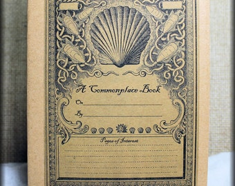 64 or 80 Page Commonplace Book insert for your Midori Traveler's Notebook, or Fauxdori. Printed cover and printed parchment paper