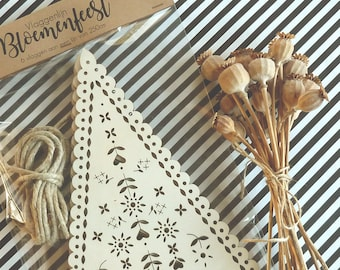 BWooden Lasercut Bunting or Garland
