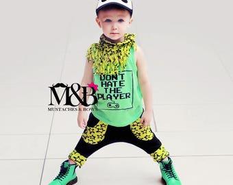 Hipster Harem Pants with real pockets / harem pants / green stars pants / baby harem pants / toddler harem pants