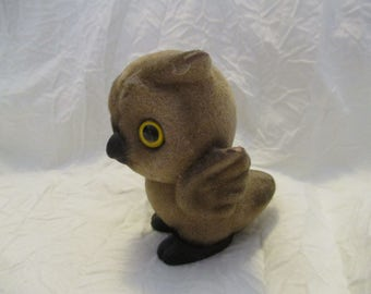 Vintage Josef Originals Fuzzy Owl figurine
