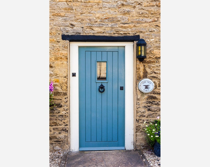 BLUE DOOR | modern fine art photography blank note cards custom books interior wall decor affordable pictures –Rick Graves