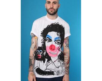 ADAMADAMADAM Michael Jackson and Bubbles Clown print T-shirt