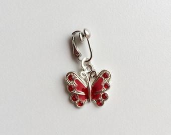 Clit clip, clitoral clip non piercing clit clip, intimate body jewellery, sexy dangle, butterfly dangle, vagina jewellery