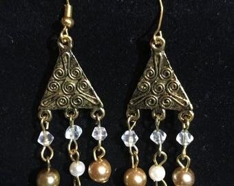 Handmade Elegant Beaded Dangle Earrings