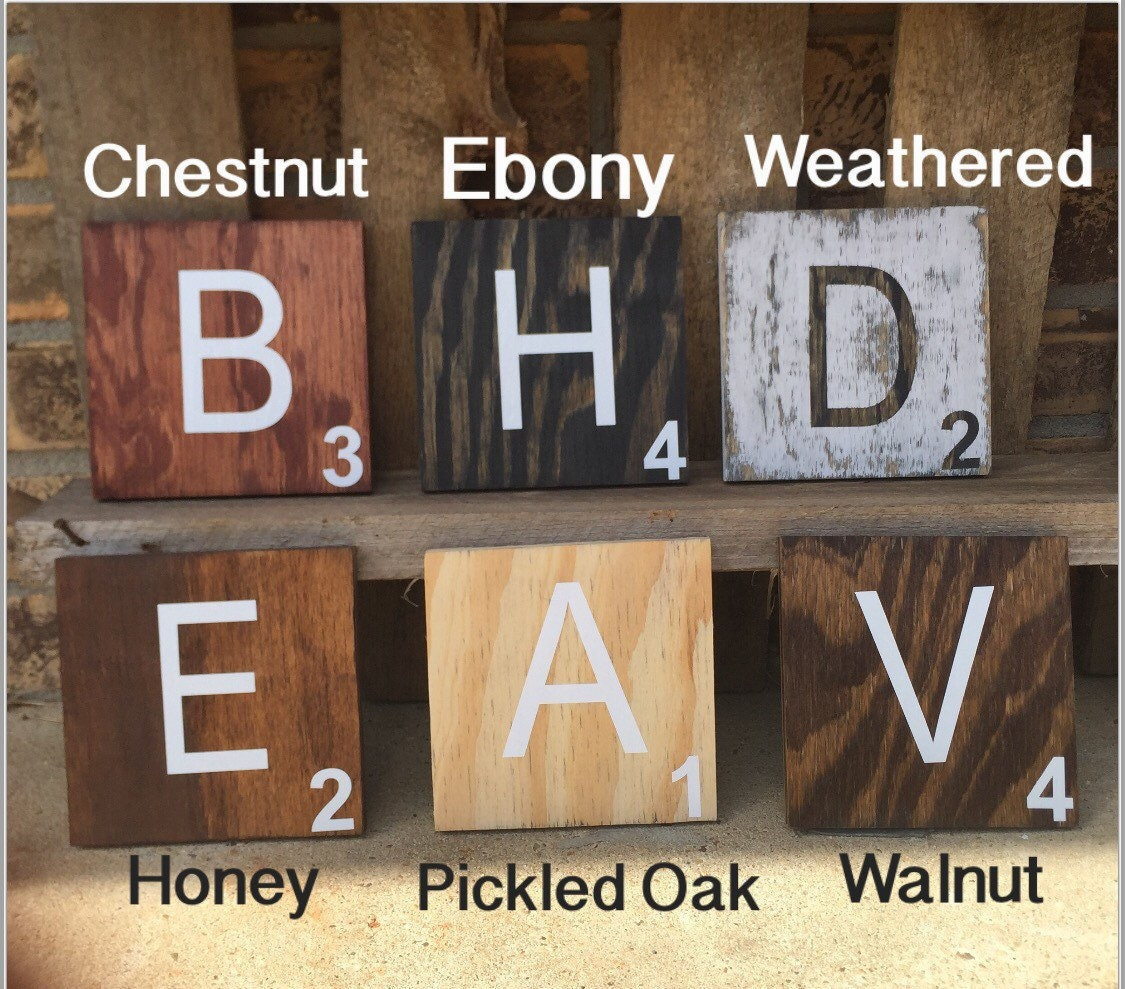 Large scrabble wall tiles wood wall decor farmhouse zoom dailygadgetfo Gallery