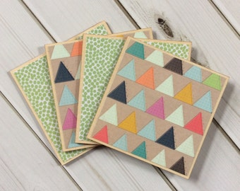Geometric Coasters, Geometric Patterns, Wooden Coasters, Decorative Coasters, Drink Coasters, Green Coasters, Polka Dot Coasters, Coasters
