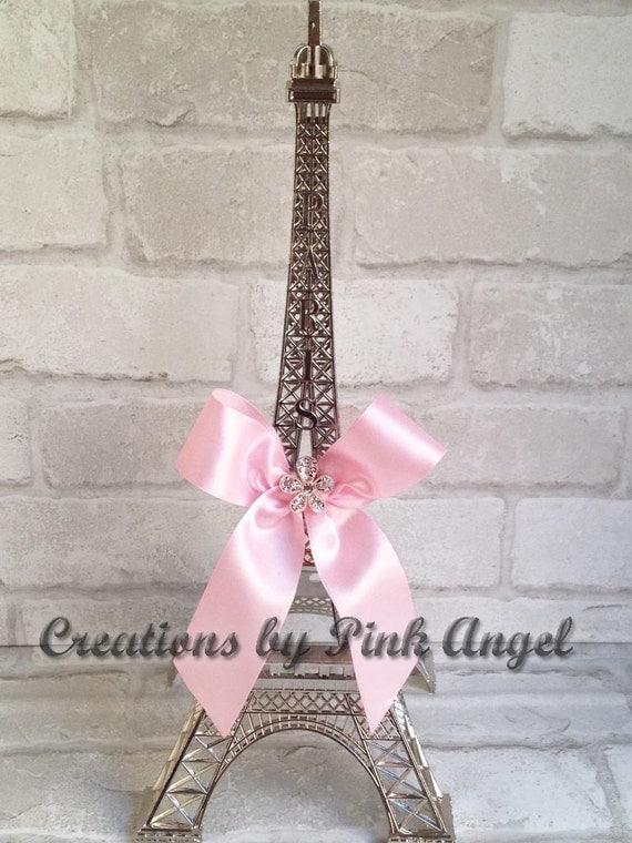 Inch silver eiffel tower centerpiece and pink paris