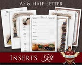 Printable Planner Inserts | FANTASY | A5 Filofax, Half-Letter | Contacts, Passwords, Meal Planner, Cleaning Schedule, Books, Series Tracker